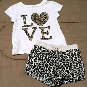 The children's place cheetah print outfit